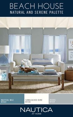 Regain your peace of mind and come home to a welcoming space by incorporating a subtle backdrop of blue balanced with a soothing white. From bold to relaxing, this rich, emotional color palette is created from the essence of true nautical inspiration, by the brand that knows it best. Create this calming backdrop of color in your space with Nautica At Home paint, designed to bring vibrant color & style into your home with our specially formulated paint + primer in one.