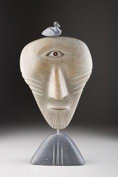 Shaman Mask, David Ruben Piqtoukun - Sculpture Inuit