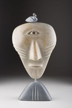 SHAMAN MASK, David Ruben Piqtoukun - Sculpture Inuit