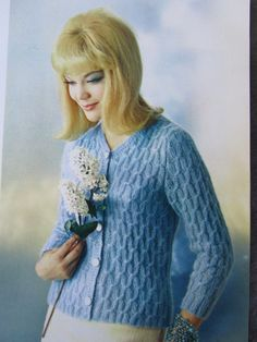 Knit Sweater Pattern - 1960's Vintage Pattern, Women's Knit Cardigan Sweater 2804. $3.00, via Etsy.