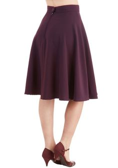 Bugle Joy Skirt in Plum | Mod Retro Vintage Skirts | ModCloth.com