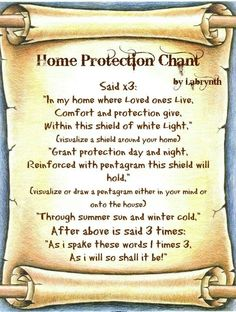 Magick Spells:  Home Protection Chant #Spell.