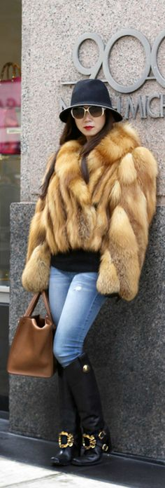Lanvin Fur On The Streets of Chicago | The House of Beccaria~