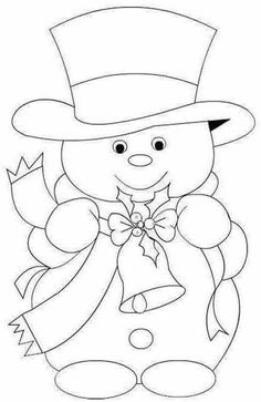 Christmas Coloring Pages - Snowmansnowman-embroidery pattern-best one yet Maiskeep for xmas ornaments pattern from wood for JeanRisultato immagini per riscos patch apliqueSnowman and Top Hat Christmas Images, Christmas Colors, Christmas Art, Christmas Projects, Christmas Decorations, Christmas Patterns, Christmas Embroidery Patterns, Xmas Ornaments, Christmas Holidays