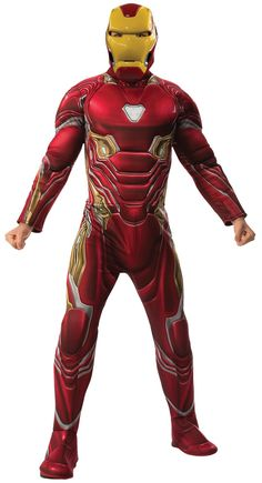 Now You Can Become Your Favorite Character From The Blockbuster Movie Avengers: Endgame! The Mark 50 Suit Comes With Padded Jumpsuit, Attached Boot Tops, And Mask. Extra Large Size Fits Up To Size Up Costumes, Halloween Costumes For Kids, Adult Costumes, Halloween Shoes, Halloween Parties, Marvel Avengers, Marvel Comics, Avengers 2012, Iron Man 2008