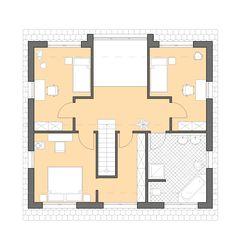 Moderne häuser satteldach grundriss  Kern-Haus Familienhaus Vero Grundriss Erdgeschoss | Haus planen ...