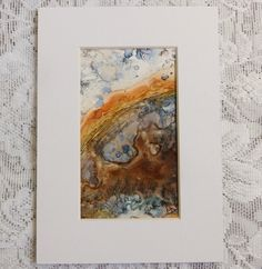 Mineral Art Dendritic Agate painting original by EMCorsaArtShop