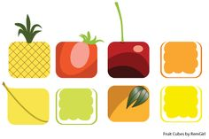 Free Fruit Cubes Vector