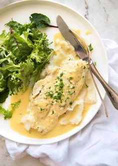 Baked Fish with Lemon Cream Sauce (One Baking Dish!) This Baked Fish with Lemon Cream Sauce is. Fish Dishes, Seafood Dishes, Fish And Seafood, Seafood Recipes, Cooking Recipes, Sauce Recipes, Cooking Rice, Cooking Pork, Cooking Games