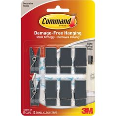 Free 2-day shipping on qualified orders over $35. Buy Command Slate Spring Clips, 8 Clips, 12 Strips, 17089S-VP at Walmart.com