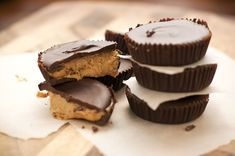 These sugar-free Chocolate Nut Butter Cups are from New York Times best-seller Sarah Wilson's I Quit Sugar book.