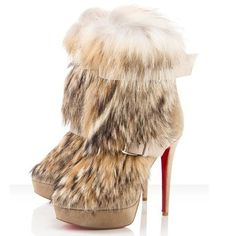 Christian Louboutin Toundra Fur Boot is new launched of Christian Louboutin in this season.Christian Louboutin Toundra Fur Boot are chic and fashionable with this simple, elegant design Details of Christian Louboutin Toundra Fur Boot. Fur Ankle Boots, Platform Ankle Boots, Bootie Boots, Shoe Boots, Ankle Booties, Cheap Christian Louboutin, Louboutin Shoes, Shoes Outlet, Me Too Shoes