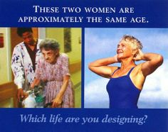 A design for life... I dunno how true this is but you better believe I'll be 50+ and lifting!