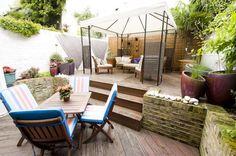 A lovely decked garden in Beaufort Street