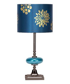 Take a look at this Blue Chrysanthemum Single-Disk Table Lamp by Illuminate the Room: Decorative Lamps on #zulily today!