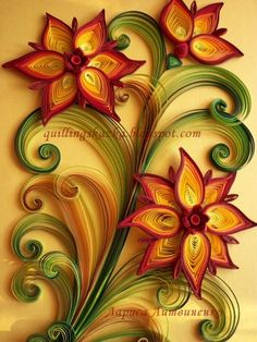 Fairy tale about quilling: Autumn yellow, crimson, gold!!