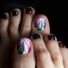 25 Fun Toe Nail Designs Nail Art Lovers Will Appreciate Pedicure Designs, Manicure E Pedicure, Pedicure Ideas, Pretty Pedicures, Pretty Nails, Cute Toe Nails, Nailart, Toe Nail Designs, Nails Design