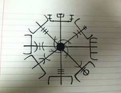 Dying to have this Nordic Sea Compass as a tattoo!