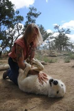 belly rubs - Wild Spirit Wolf Sanctuary, Ramah, NM