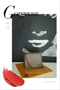 Luis Vuitton bag cake