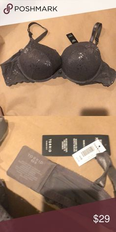 7d96ebc34d I just added this listing on Poshmark  Gray lace padded bra. 44B. NWT