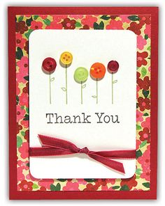 Flowers To Thank You Card from the Crafts Direct Card Chaos for Everyday Moments event.