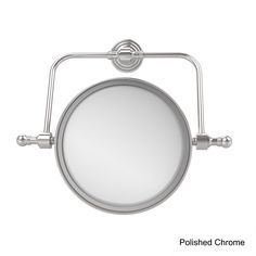 Allied Retro Wave Collection Wall Mounted Swivel Make-Up Mirror 8-inch Diameter with 2X Magnification