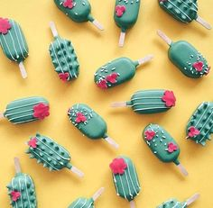 Cactus Icecream pattern background