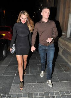 New love: Danielle Lloyd looked gorgeous and happier than ever as she stepped out for a dinner date with her new man Michael O'Neill in Liverpool on Saturday