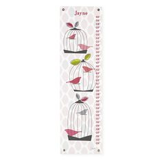The Land of Nod | Growth Charts: Birdcage Growth Chart in Growth Charts