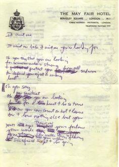 "Bob  Dylan's  handwritten  lyrics for ""It ain't me babe"""