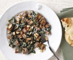Creamy spinach & garam masala tofu