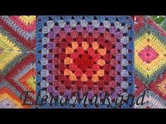 Бабушкин квадрат. Добавление нити другого цвета.Granny square. Adding another color thread - YouTube Granny Square Tutorial, Crochet Granny, Blanket, Youtube, Bedspreads, Tejidos, Pattern, Crochet Pattern, Rug