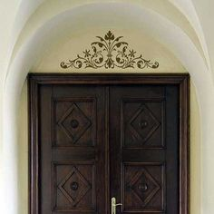 Stencils | Renaissance Door Crown Classic Panel | Royal Design Studio