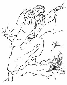 The Good Shepherd Bible Coloring Pages  Coloring Pages of good