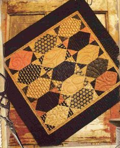 Pattern Hint of Fall by Buttermilk Basin by PrimitiveQuilting, $7.00...on etsy.com