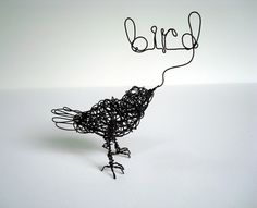 Bird wire sculpture