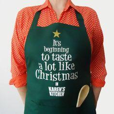 Personalised Christmas Slogan Apron