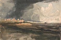 Samuel Palmer, At Hailsham, Sussex - a Storm Approaching : 1821 on ArtStack #samuel-palmer #art