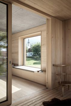 Blackened timber house interior by Bernardo Bader Architekten (Architecture) Timber House, Wooden House, Architecture Design, Wood Interiors, House Extensions, Interior Design Living Room, My Dream Home, New Homes, Windows