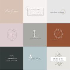 Pre-made customizable branding packages made for creative businesses from The Brand Cafe by Oregon Lane Studio