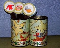 Cute chore canisters!