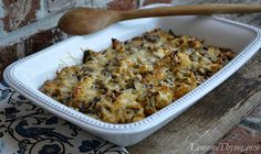 Roasted Cauliflower & Mushroom Casserole Recipe on Yummly