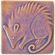 Possum Handmade Ceramic Art Tile