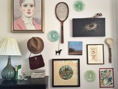 The Case For Hanging What Inspires You On the Wall Gallary Wall, Make A Lamp, Wall Decor, Wall Art, Cool Walls, Wall Spaces, Creative Inspiration, House Styles, Paintings