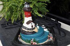 Barnegat Bay/Lighthouse themed birthday cake