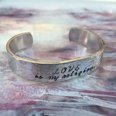 Love Is My Religion Cuff