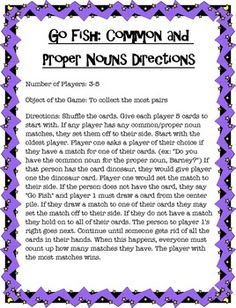 This is a game for students to practice matching common nouns with their proper nouns. Great way for those students who are struggling to catch on to the concept quickly. 3rd Grade Words, 2nd Grade Grammar, Third Grade Writing, 2nd Grade Ela, Spelling And Grammar, 2nd Grade Reading, Grammar Lessons, Co Teaching, Teaching Writing