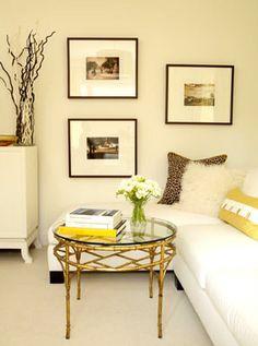 Decoração - combinar amarelo com outras cores: branco
