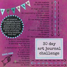 30 day art journal ideas